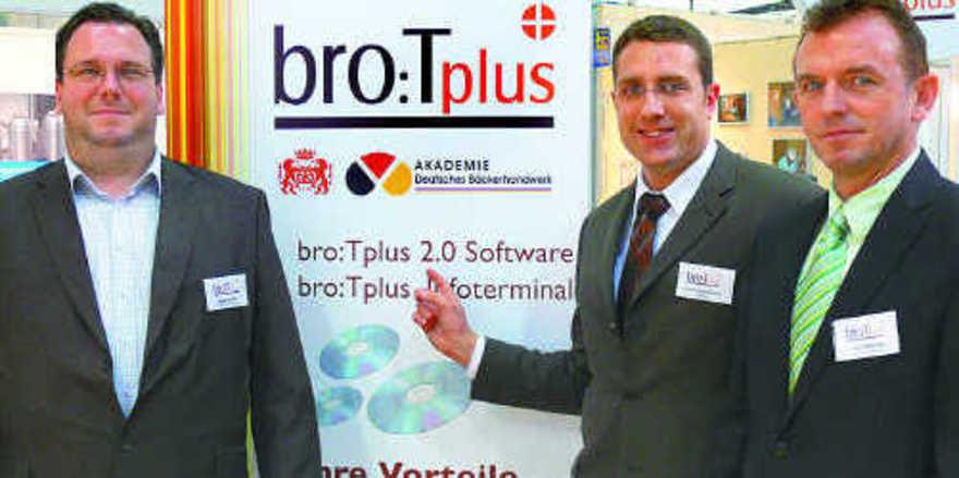 Für Entwicklung und Betreuung des neuen bro:Tplus verantwortlich (von links): Markus Nitz, Frank Rennebarth und Andre Weichert.