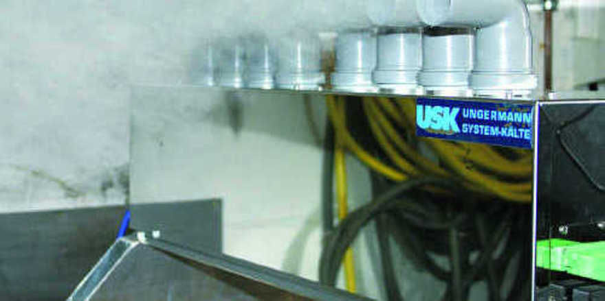 Bis vor wenigen Jahren unerreichbar: Fast 100 Prozent Luftfeuchte in einer Kältezelle erreicht das Microtec-Verfahren mittels Ultraschall-Feinzerstäubung.