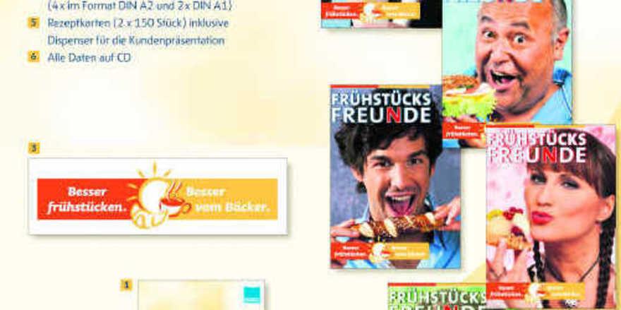 Zum Aktionsset gehören u.a. Plakate, Frühstücksleitfaden und Kalkulationsprogramm.