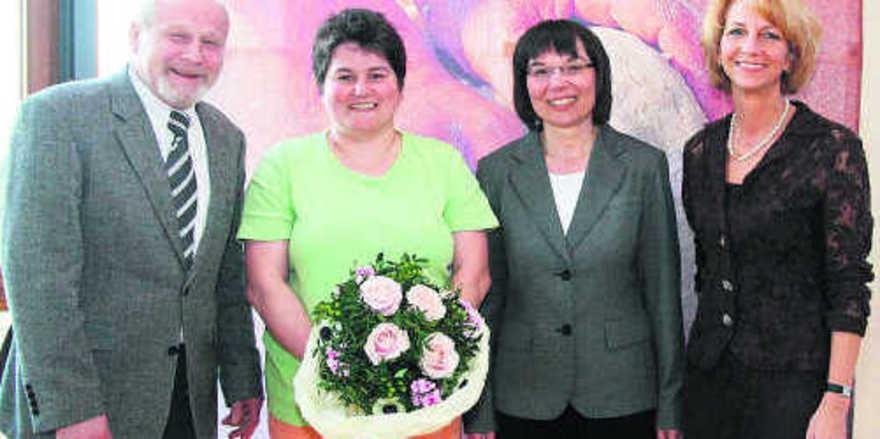 OM Norbert Magin, stellvertretende OM Juliane Ockert, Ute Sagebiel-Hannich (BIV Baden) und GF Vera Wolf bei der Jahreshauptversammlung.