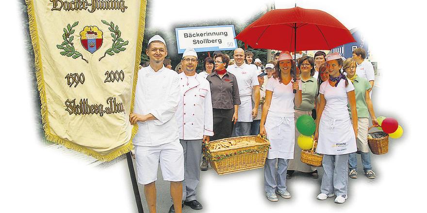 Das regionale Bäckerhandwerk sorgte beim Festumzug für Aufsehen.