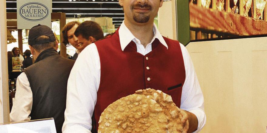 Benjamin Profanter, Landesinnungsmeister von Südtirol, präsentierte auf der Biofach seine Schüttelbrotkreationen.