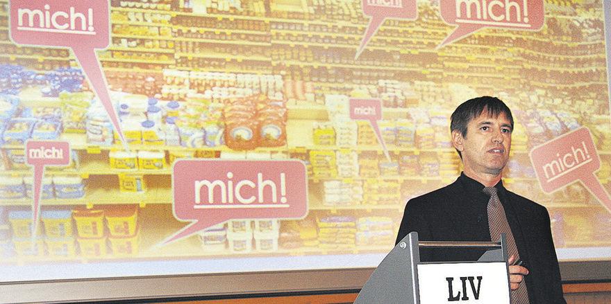 Ein zu großes Angebot verwirrt die Kunden: Bruno Heini auf der Unternehmensführungstagung (LIV Bayern) in Nürnberg.