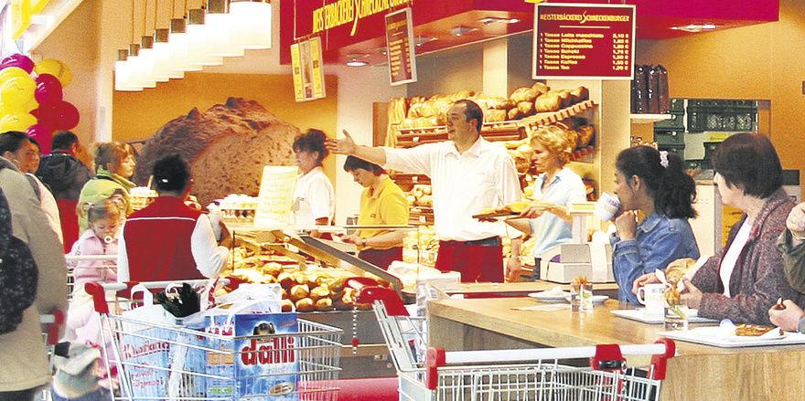 Lukratives Geschäft: In vielen Supermärkten sind Bäcker nach wie vor gut aufgestellt.