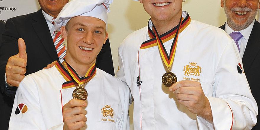 Ausgezeichnete Bäckerjugend: Felix Remmele und Marc Mundri.