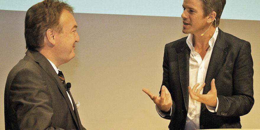 Spitzentreffen auf Augenhöhe: Bäko-Vorstand Holger Knieling hatte namhafte Referenten zu Gast. Unter ihnen der ZDF-Moderator Markus Lanz.