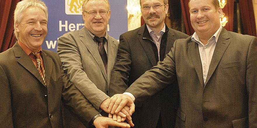 Der Vorstand der neuen Bäckerinnung (von links): Karl-Heinz Wörle, Bruno Dierle, Heinrich Schulz (Obermeister) und Werner Maier.