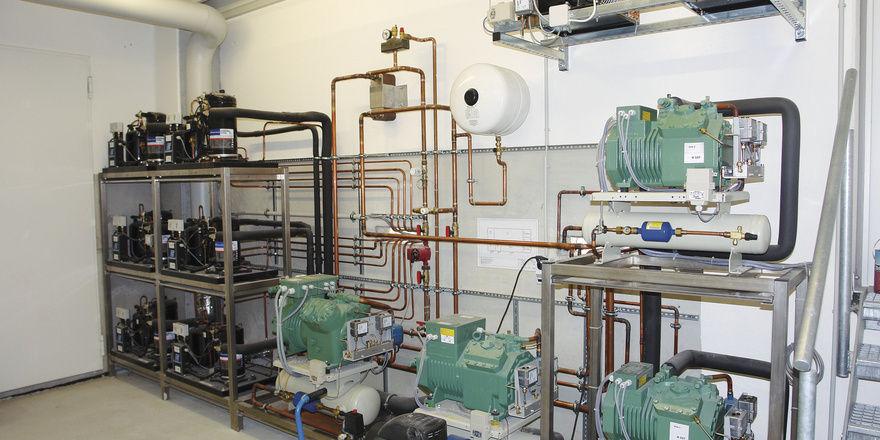 Die Kälteverbundanlage ist im Gegensatz zu vielen Einzelanlagen wirtschaftlicher und ausfallsicherer.