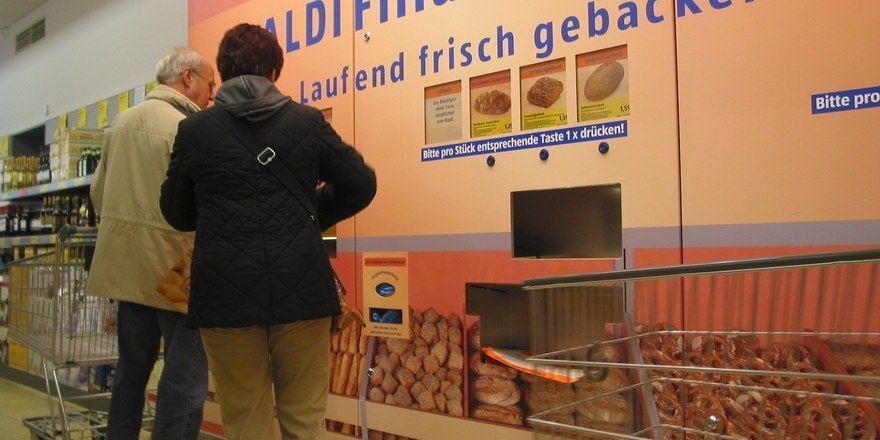 Backwaren auf Knopfdruck wie am Getränkeautomaten - das hat sich für Aldi nicht ausgezahlt.