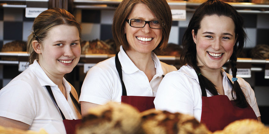 Begeisterte Mitarbeiter tragen das Profil der besonderen Bäckerei selbstverständlich nach außen.