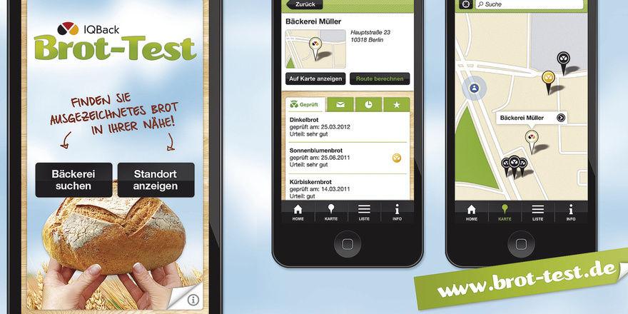 Überall in Deutschland: Nutzer der Brot-Test-App finden gute Handwerksbäcker der Umgebung jetzt ganz schnell.