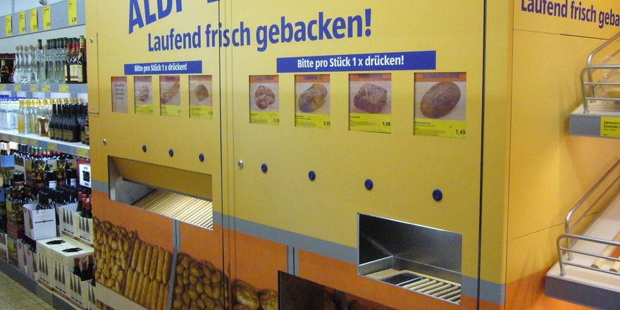 Der Backautomat von Aldi Süd kommt in Österreich nicht gut an.