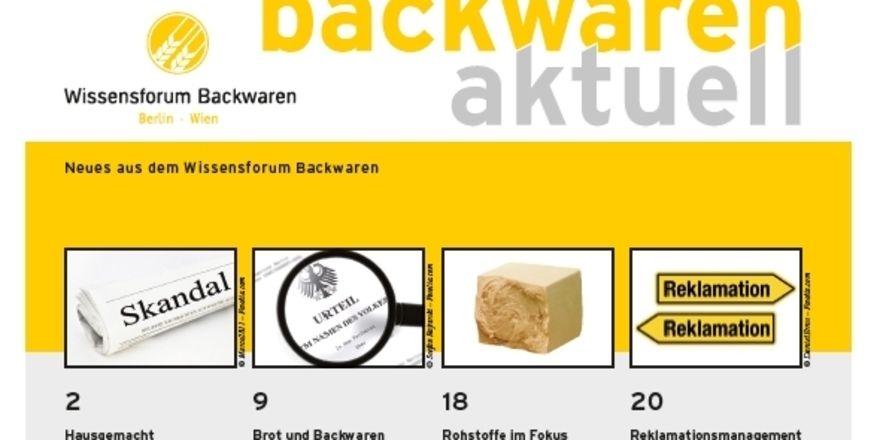 """Titel der neuen Ausgabe von """"Backwaren aktuell""""."""