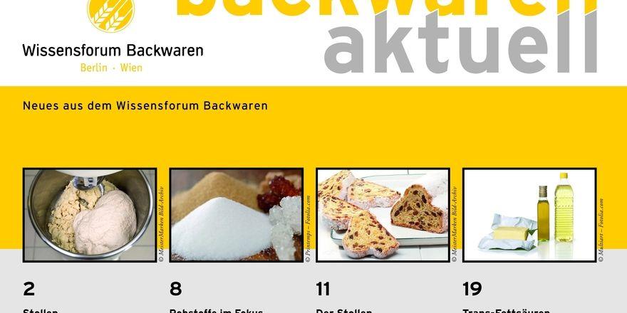 Aktueller Heft-Titel des Wissensforum Backwaren e.V.