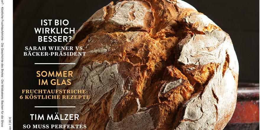 Ausschnitt vom Cover der ersten Ausgabe des Lifestyle-Magazins für Brotkultur.
