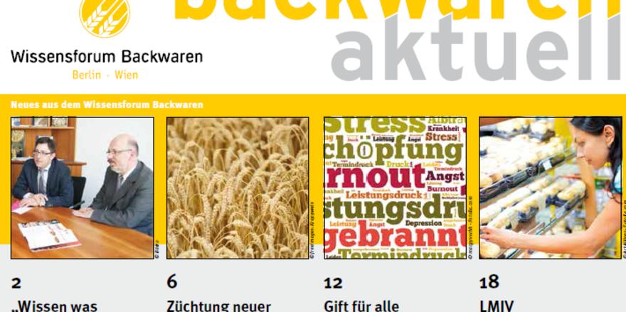 Deckblatt der neuen Ausgabe des Wissensforum Backwaren e.V.