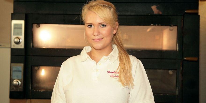 Isabel Heider nimmt an der Meisterschaft für die Bäckerjugend in Weinheim teil.