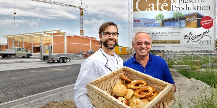 Frank und Manfred Clement bauen in Sachsenheim derzeit eine mehr als 1000 m² große gläserne Produktion.