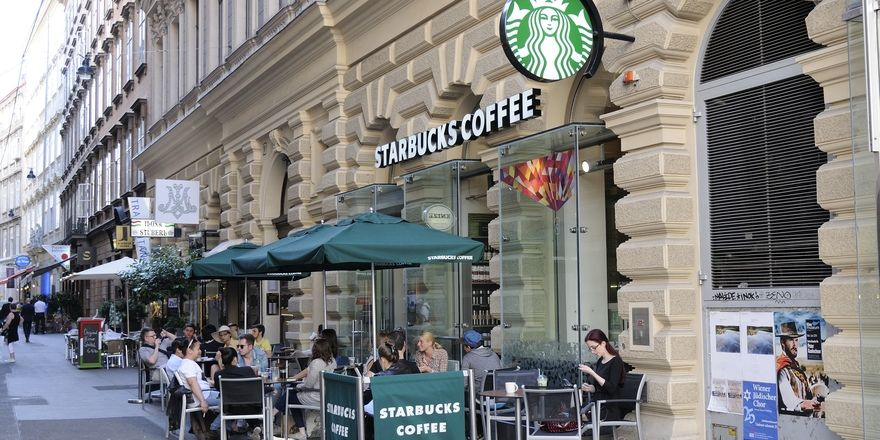 Starbucks in Wien.
