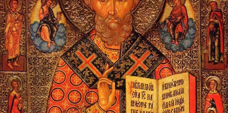 Heiliger Nikolaus, Nordrussisches Altgläubigenatelier, kurz nach 1800.