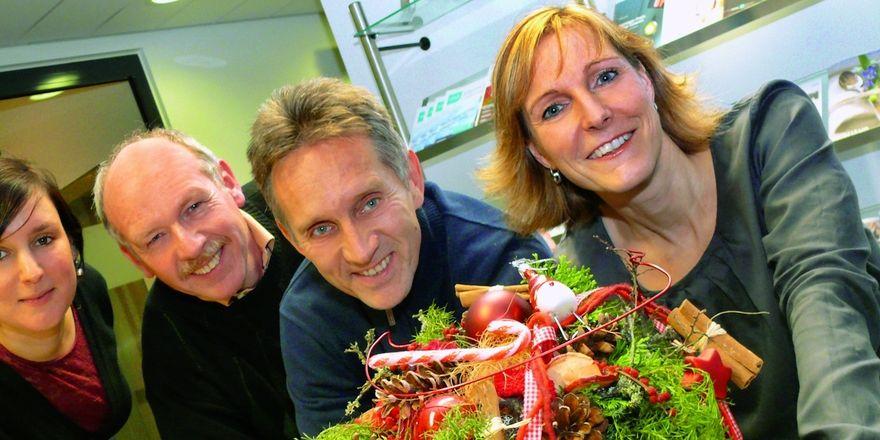 Das ABZ-Team wünscht eine gute Zeit (von links): Katharina Ott, Dieter Kauffmann, Reinald Wolf und Heike Kinkopf.