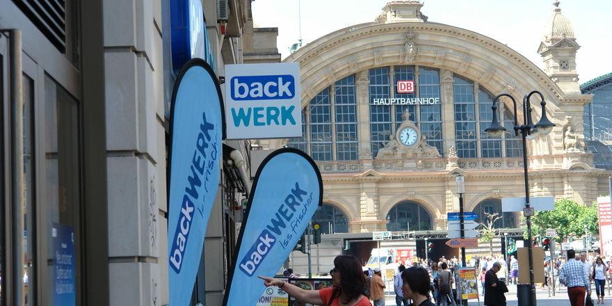 Backwerk ist in allen deutschen Metropolen in den besten Lagen vertreten wie hier in der Kaiserstraße in Frankfurt/Main.