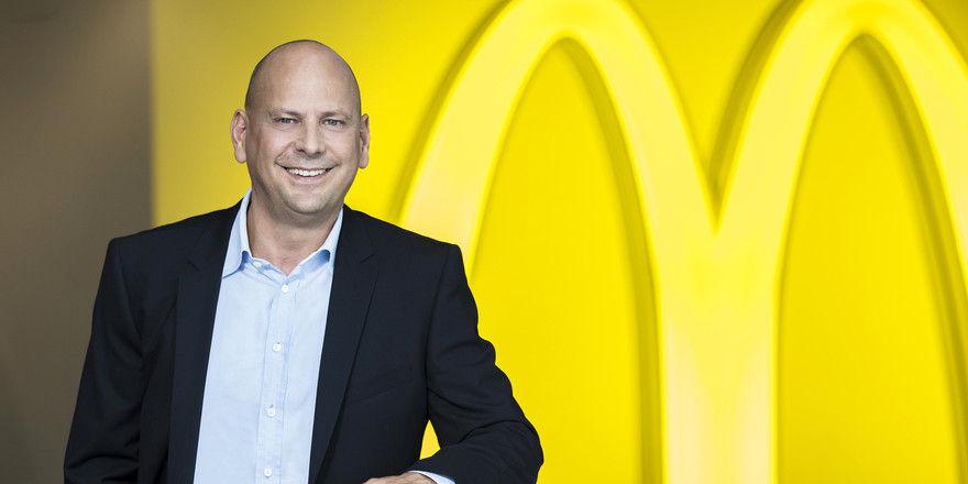 Holger Beeck, Vorstandsvorsitzender McDonald's Deutschland, bringt frischen Wind in das Unternehmen.