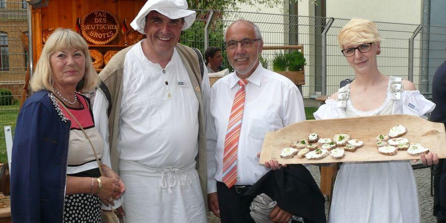 Beim Aktionstag in Berlin machen Bäcker aus ganz Deutschland mit.