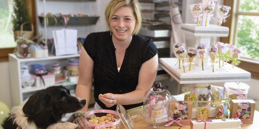 Hündin Gem hat Besitzerin Nina Lemke zur Geschäftsidee mit der Tierconfiserie inspiriert.