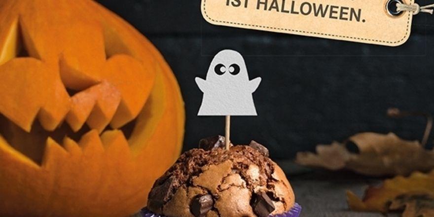 Im Aktionskatalog gibt es attraktive Motive, um das Geschäft rund um Halloween zu forcieren.