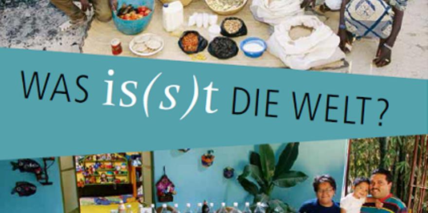 """Die Ausstellung """"Was is(s)t die Welt?"""" zeigt Fotografien von Familien und ihrem wöchentlichen Bedarf an Lebensmitteln."""