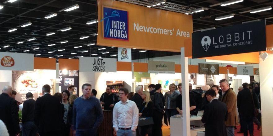 Die gut besuchte Newcomers' Area bietet Neugründern viel Raum, um den Besuchern ihre Konzepte zu präsentieren.
