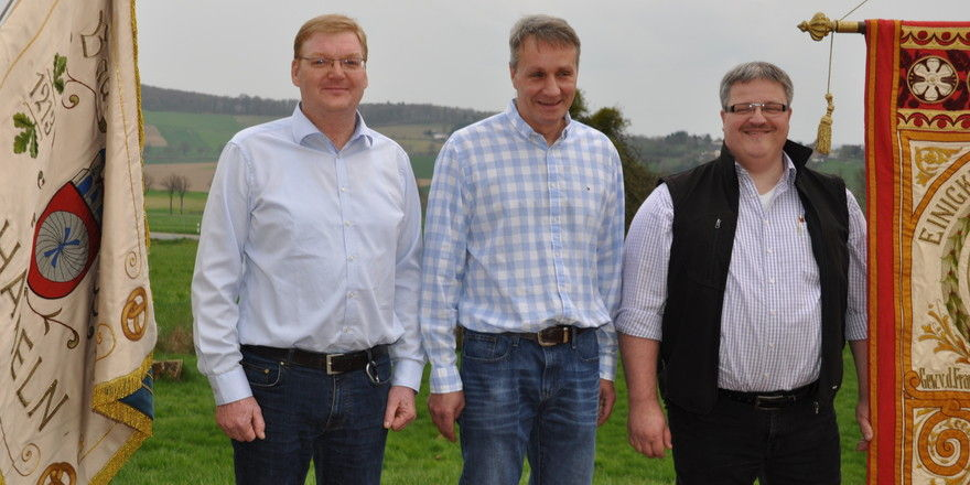 Für die Bäcker sind als Obermeister Hauke-Wilhelm Bente (von links) und Thomas Wegener am Start, für die Fleischer ist es Joachim Dutschke.