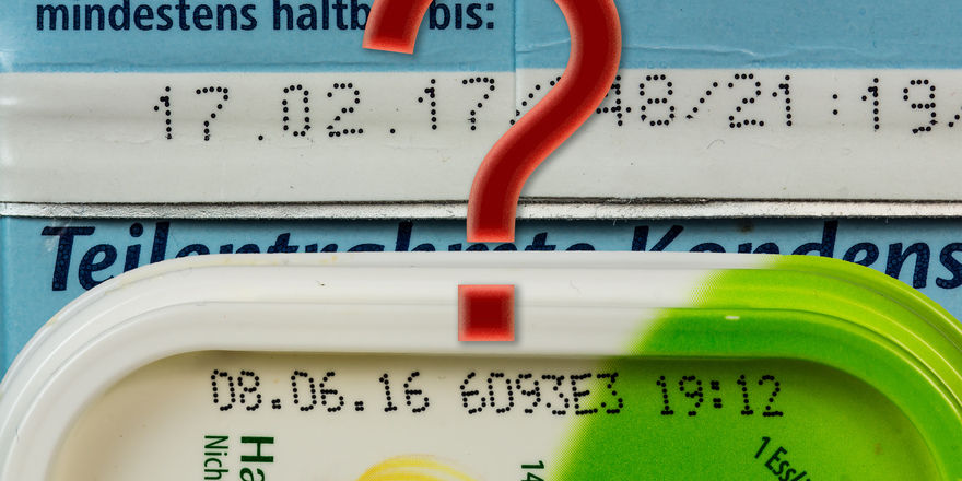 Verbraucher wissen oft nicht den Unterschied zwischen Mindesthaltbarkeits- und Verbrauchsdatum bei Lebensmitteln.