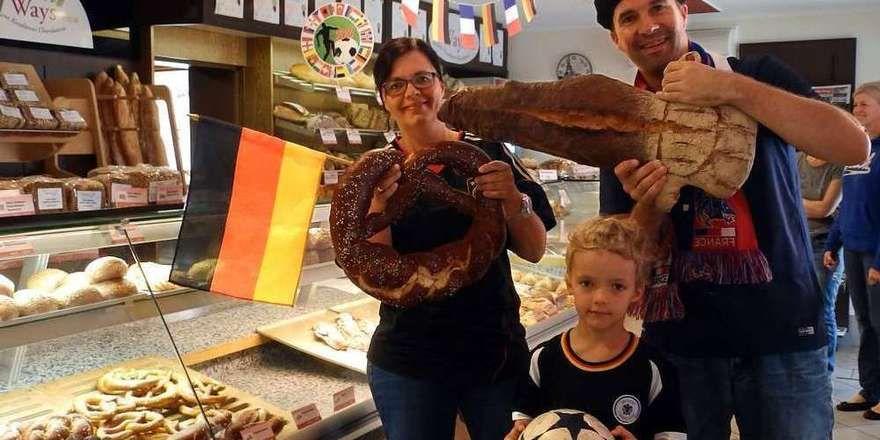 Die Mannschaft der Bäckerei Ways aus Moossinning hat sich schon auf das Halbfinale vorbereitet.