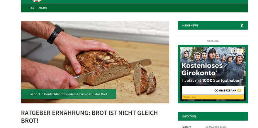 Der Fußball-Bund und das Brot