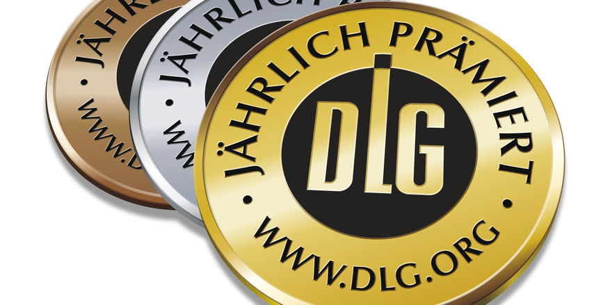 Die DLG prämiert Produkte mit Gold, Silber und Bronze.