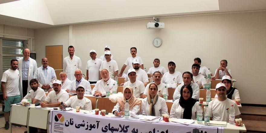 Die iranischen Kursteilnehmer mit Vertretern des Zentralvernbands und Akademieleiter Bernd Kütscher (2. von links).