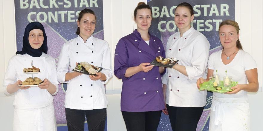 Die Back Star-Finalistinnen (von links): Emine Aydin, Carina Höhnel, das Team Ricarda Oberst und Sarah Weiß sowie Fiona Gaissmaier.