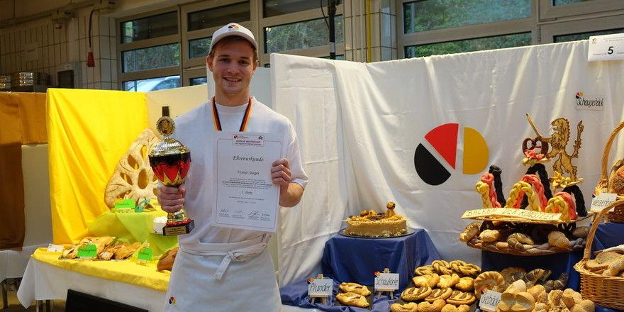 Florian Siegel ist noch amtierender Sieger der DMBJ bei den Bäckern.