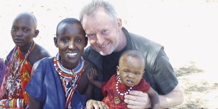Begegnung mit den Massai am Kilimanjaro.