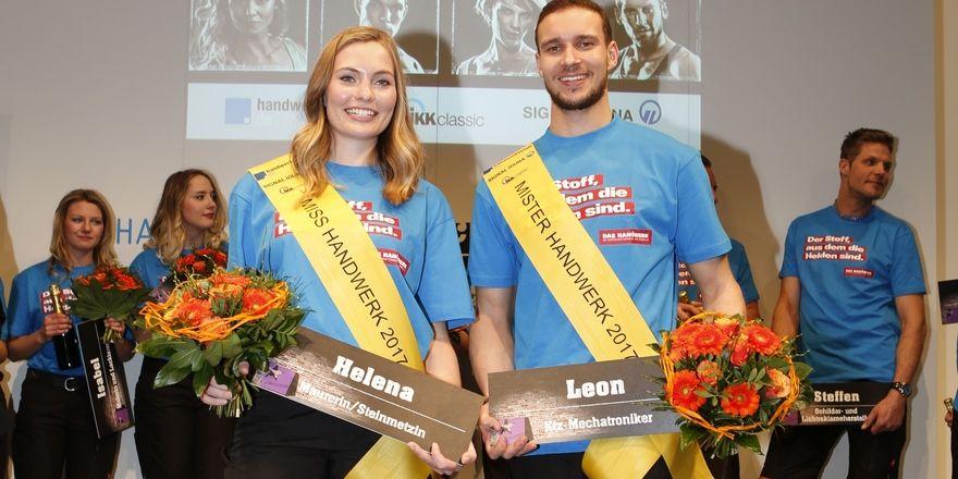 Die diesjährigen Gewinner der Wahl Helena Reppin und Leon Pethke.