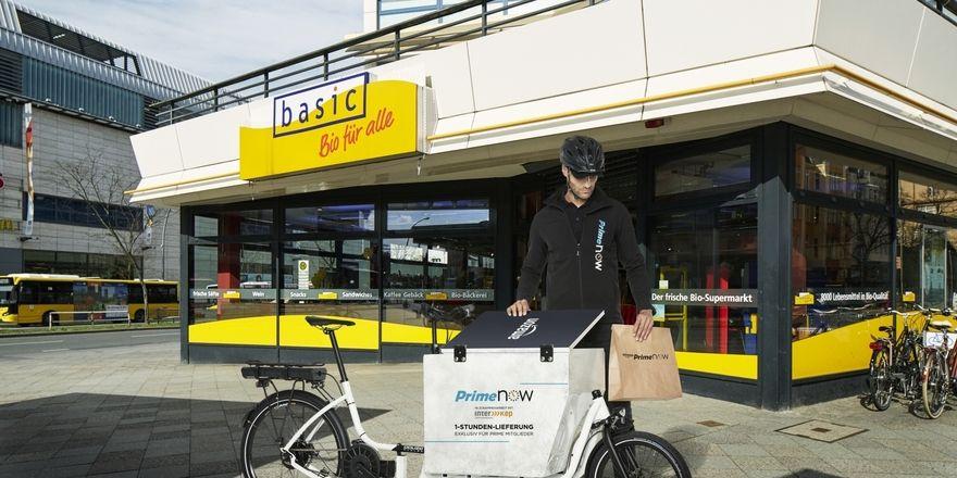 """""""Prime now"""" liefert in Berlin frische Lebensmittel direkt vom Händler."""