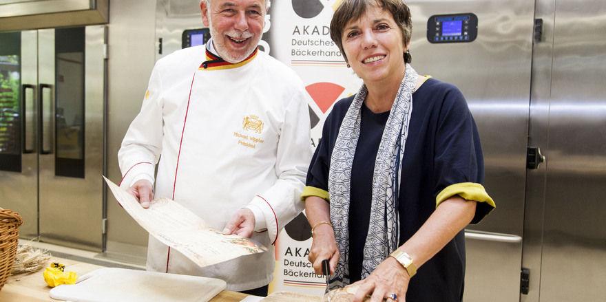 Brot-Treffen: Margot Käßmann und Michael Wippler.