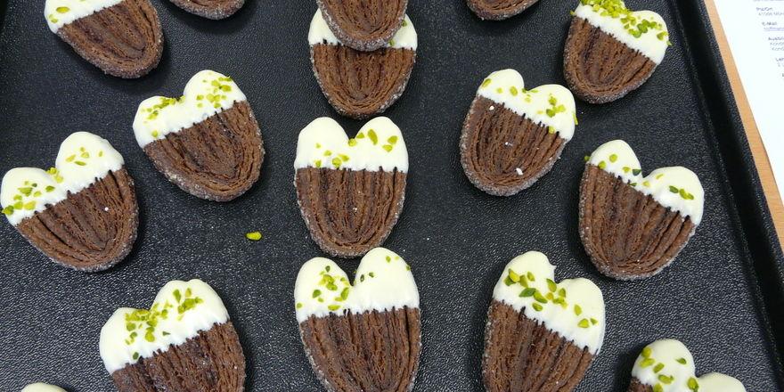 Die Schokoladen Schweineöhrchen zeigen die Kreativität von motivierten Auszubildenden.