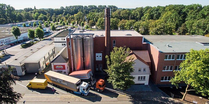 Die Großbäckerei Mestemacher am Stammsitz in Gütersloh.