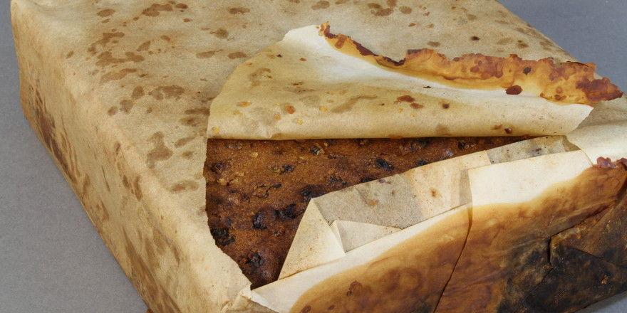 Der Früchtekuchen, der die arktischen Temperaturen scheinbar unbeschadet überstanden hat.