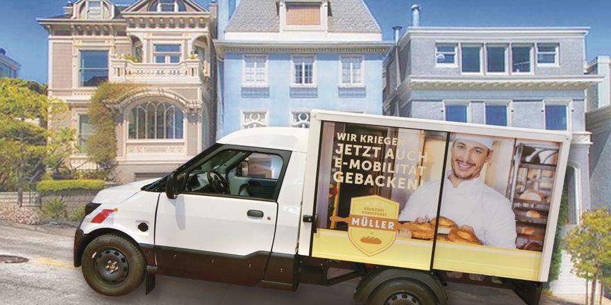 Einheitssache: Den Triebkopf der aktuellen E-Fahrzeuge für Bäcker steuert die Posttochter Streetscooter bei.