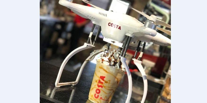 Lieferservice aus der Luft: Kaffee oder Shakes per Drohne.