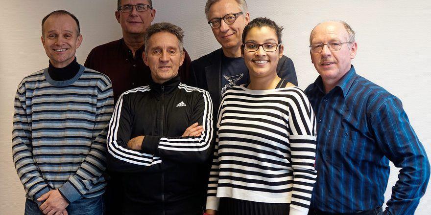 Das Backmedien-Redaktionsteam (v. l.): Ralf Küchle, Wolf-Andreas Richter, Reinald Wolf, Arnulf Ramcke, Bérengère Thumm und Dieter Kauffmann.